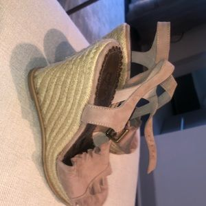 Never worn! Blush pink wedges!